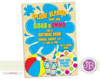 Splish Splash Birthday Invitation