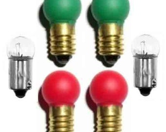 Switch Track BULBS Set 2 ea 1445 432G 432R for Lionel American Flyer Trains