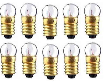 BULBS (10) 1447 Clear 18v BULBS for Lionel Marx O O27 Gauge American Flyer Trains Accesories