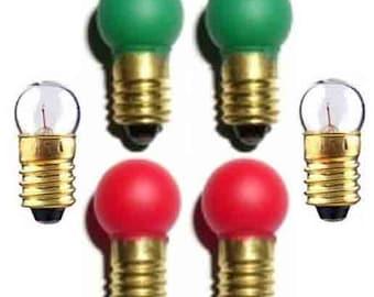Switch Track BULBS Set 2 ea 1447 432G 432R for Lionel American Flyer Trains
