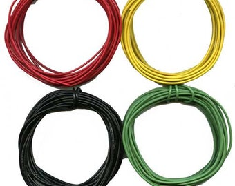 40'- 10' ea. Black GREEN YELLOW RED 22 Gauge Stranded Wire O Gauge Scale Trains