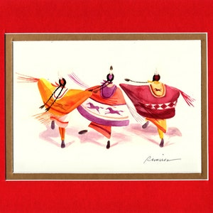 8x10 Double matted archival prints entirely made by Native American Artist Daniel Ramirez Tiny Dancers