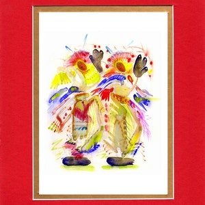 Woodland Boy 8x10 Double matted archival prints entirely made by Native American Artist Daniel Ramirez