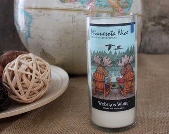 Minnesota Nice Candle - Recycled Wine Bottle from Minnesota Winery - 16 oz Candle