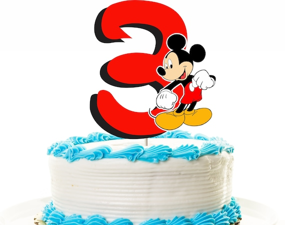 Fine Mickey Mouse Cake Topper 3Rd Birthday Topper Or Centerpiece Etsy Personalised Birthday Cards Paralily Jamesorg