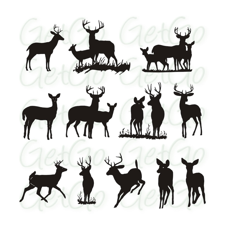 photograph relating to Deer Silhouette Printable identified as Deer silhouette Printable Picture Art Clip Artwork Vector Pets Buck Deer Clipart Shift Artwork Decor Quick Down load, Electronic Stamp