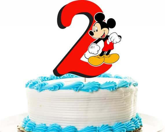 Mickey Mouse Cake Topper 2nd Birthday Or Centerpiece