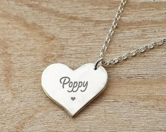 Best Friend Gift - Personalized Heart Necklace
