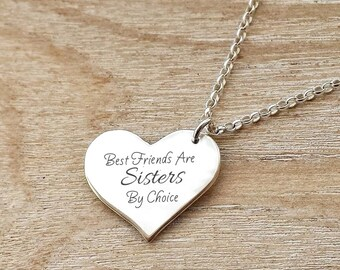 Best Friend Gift - Engraved Best Friend Necklace Sterling Silver Gift Boxed Christmas