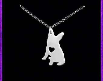 French Bulldog Necklace - Sterling Silver Dog Necklace