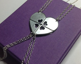 4 Best Friends Necklace - Sterling Silver