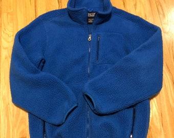 fe9a3e98bb Vintage 90 s Lands End Womens Fleece Jacket Size Large