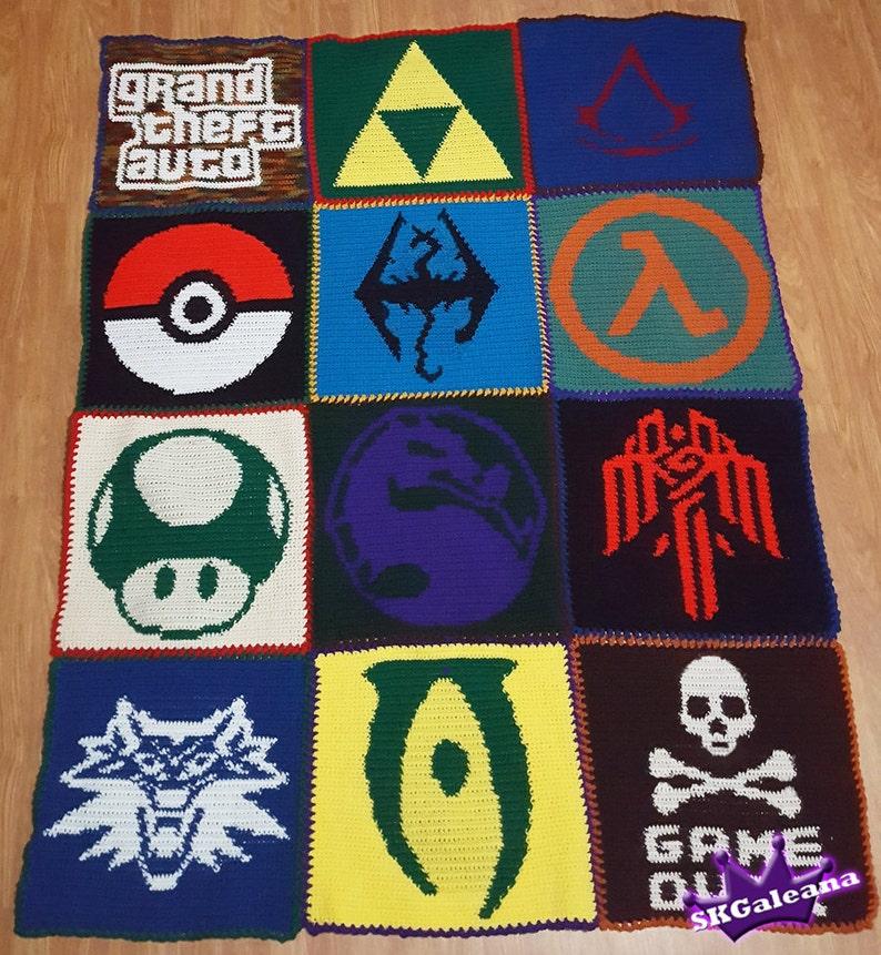 Crochet Video Game Blanket Pattern image 0