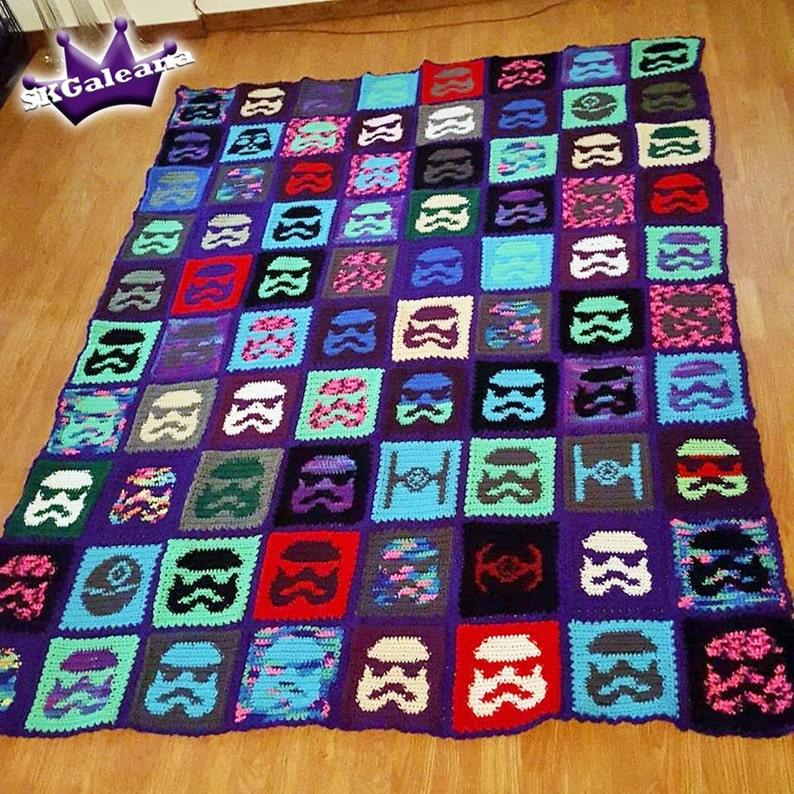 Star Wars Stormtrooper Crochet Blanket Pattern Etsy