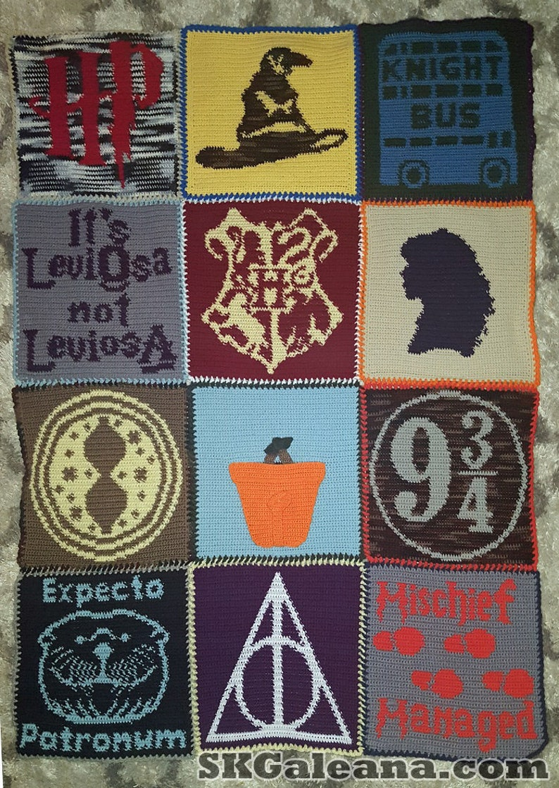Crochet Blanket Pattern Inspired by Harry Potter image 0
