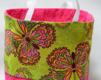 Artistic Butterfly Handmade Tiny Small Fabric Tote bags
