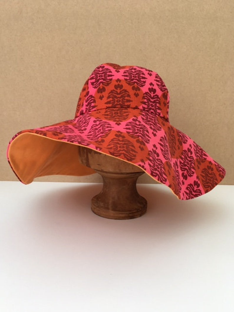 42ba382cc7c0c Hand made wide brim sun hat summer hat festival hat beach