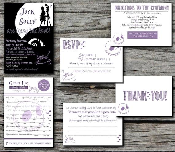 Jack Skellington Nightmare Before Christmas Wedding Invitation Etsy