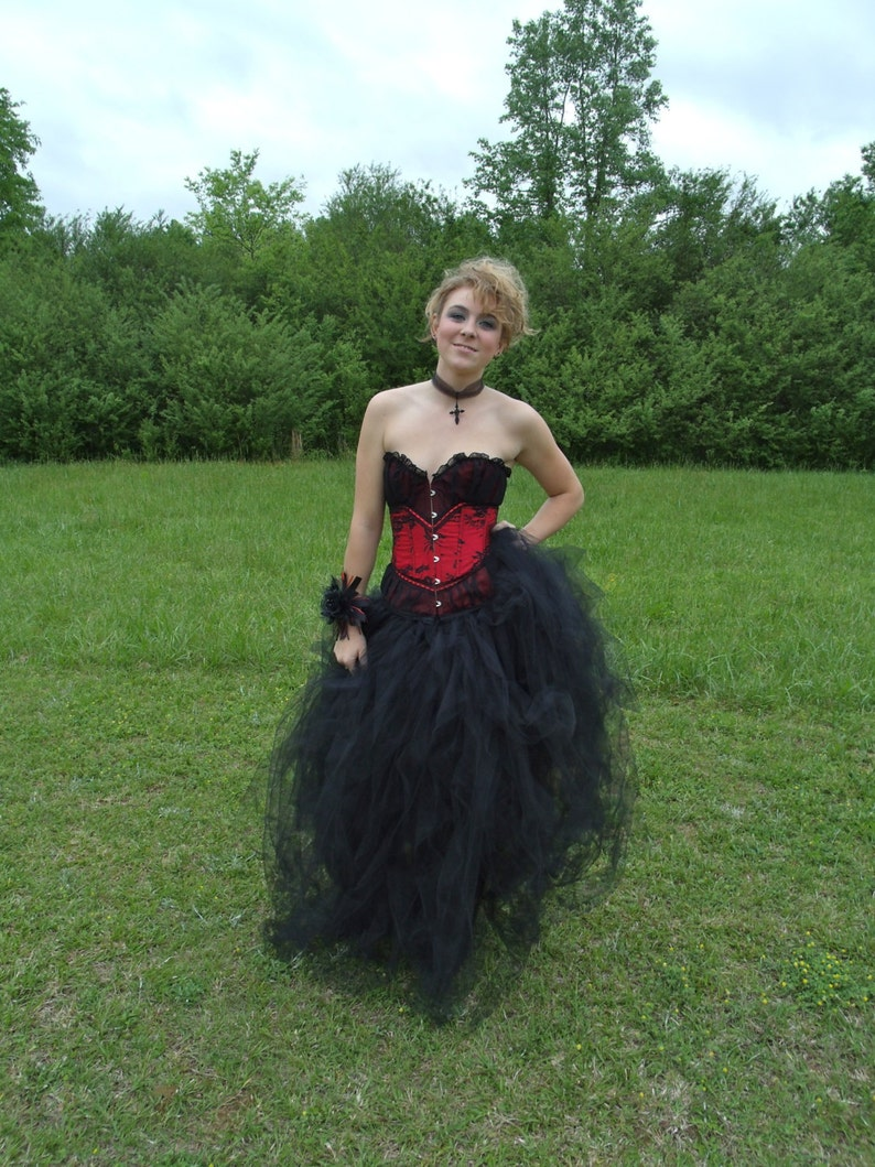 c99eeccaaa6 Prom Steampunk Burlesque Gothic Wedding or Prom Dress plus