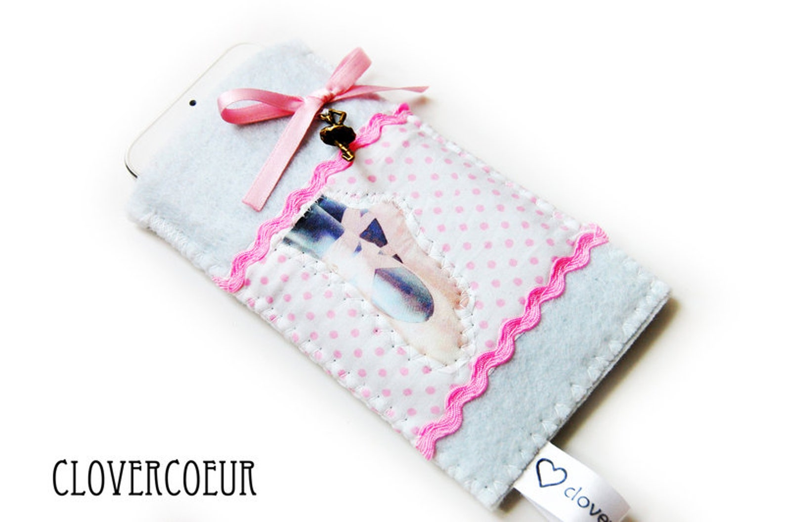 mobile phone bag smartphone ~ ballet ballerina white phone case