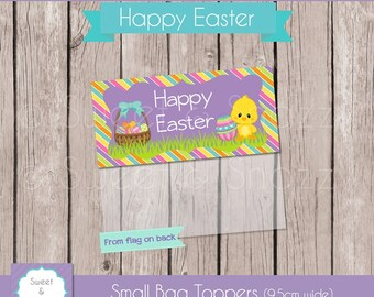 Instant Download - Bag Toppers - Easter Chick / Holidays / Happy Easter