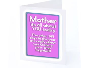 mothers day card its all about you 2 gifts in 1