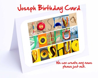 Joshua Personalised Birthday Card