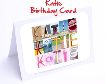 Katie Personalised Birthday Card