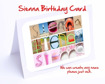 Sienna  Personalised Birthday Card