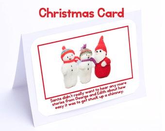 "Santa Christmas Card ""Snowpeople"""