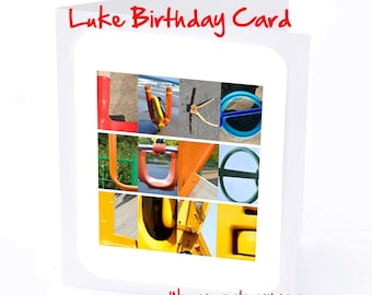 Luke Personalised Birthday Card