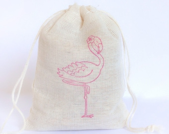 Flamingo Bags Bachelorette Party Decor Set 6 Flamingo birthday party baby shower goodies treat bag
