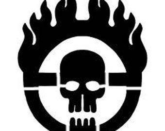 War Boy Logo Stencil
