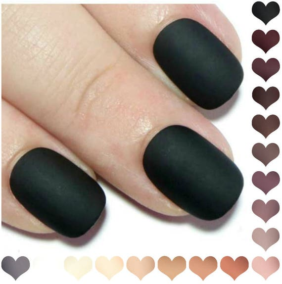 Press On Nails Short Matte Fake Acrylic Oval
