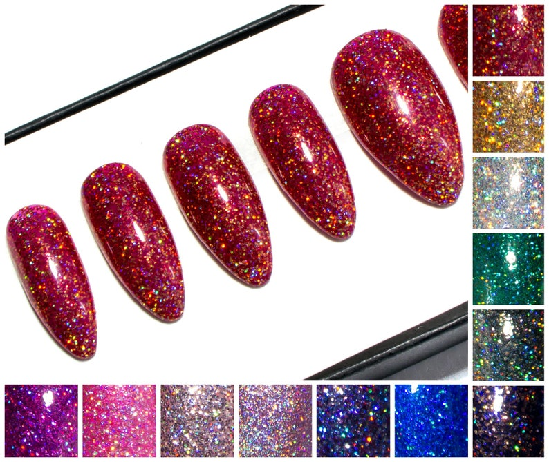 Gel Press On Pointy Nails Almond Acrylic Nails Design Glue On Nails