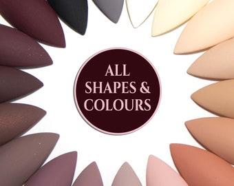 Stiletto Press On Nails - Matte False Nails - Fake Nails with Glue - Neutral Coloured Nails