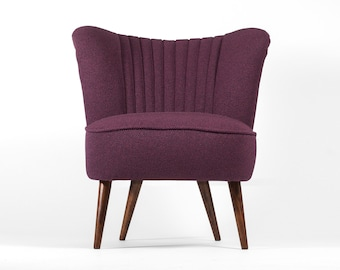 Purple Cocktail Chair from 70's - restored