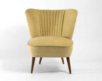 Light yellow cocktail chair from 1970's