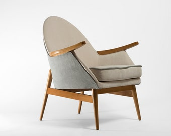 Completely  restored armchair from 1962 - grey