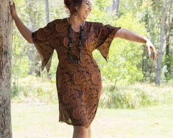 Curvy Caftan - Cinnamon Journey