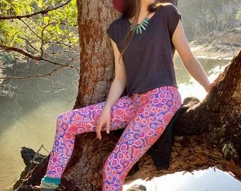 Cotton Leggings - Emu Dreaming, Australian Made