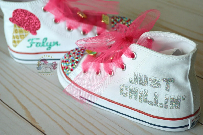 9405a1767df0bd Ice Cream Rhinestone Converse Summer Converse Bling Shoes