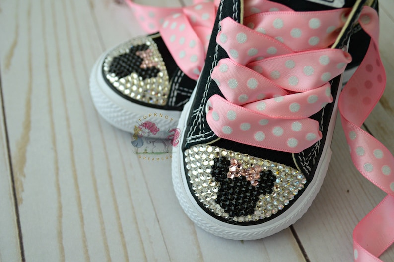 730839717b967f Minnie Mouse Toddler Converse Bling Shoes Pink Disney