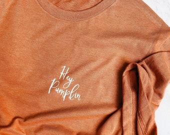 Hey Pumpkin Crew Neck T-Shirt