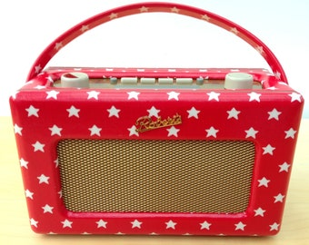 Roberts Revival DAB Radio in Cath Kidston Stars Oilcloth with iPod input