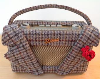 Roberts Radio in Bespoke Harris Tweed Jacket with Detachable Lapels