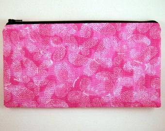 Pink Butterfly Pencil Case, Pencil Pouch, Zipper Pouch, Make Up Bag, Gadget Bag