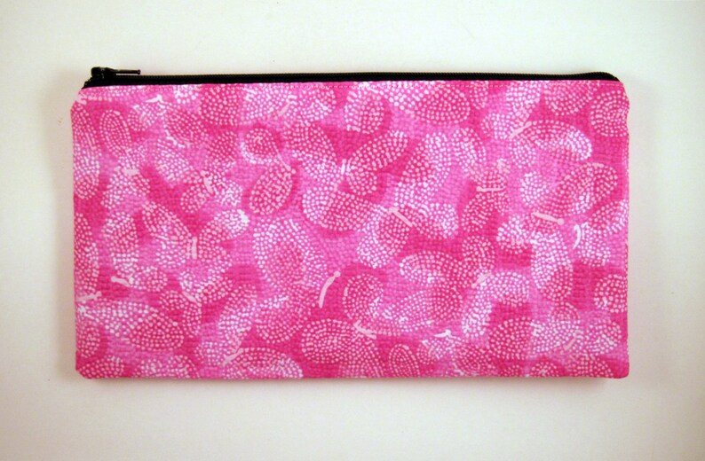 Pink Butterfly Pencil Case Pencil Pouch Zipper Pouch Make image 0
