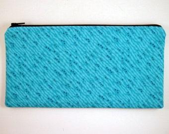 Blue / Turquois Pencil Case, Make Up Pouch, Gadget Bag, Pencil Pouch, Clutch