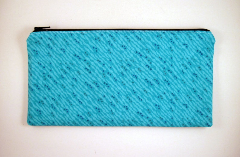 Blue / Turquois Pencil Case Make Up Pouch Gadget Bag Pencil image 0